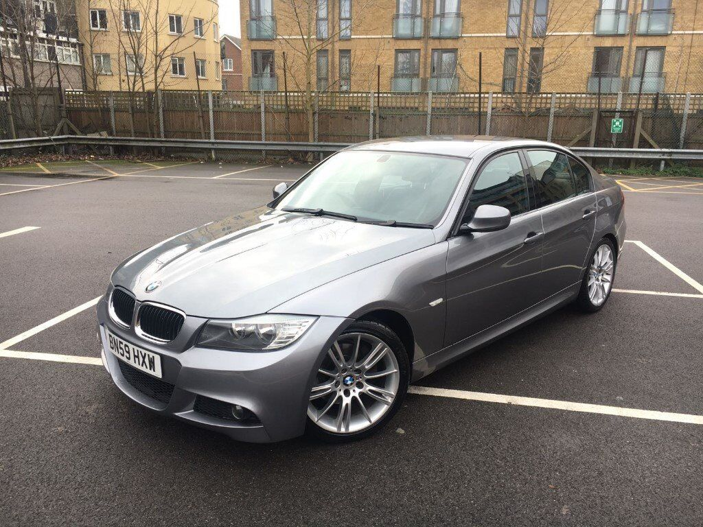 2009 59 Bmw 320d M Sport Automatic 4 Door Saloon E90 Lci Metallic Space Grey In