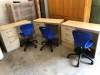 Work stations with chair