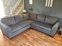 M&S Urbino fabric corner sofa for sale - Grey colour, nearly new condition.