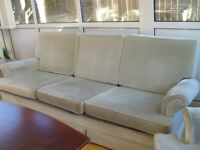 3 piece suite- sofa with 2 arm chairs