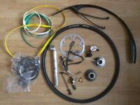 Bike parts, mudguard, tyre, cassette, hubs...