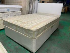 IMini double bed and very good mattress included headboard