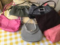 Selection of 8 bags one leather most new
