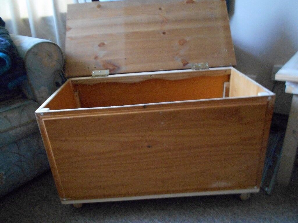 A PINE CHEST COFFEE TABLIE TOYBOX AND SO ON