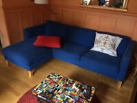 Classic Small Corner Sofa with Chaise Longue. Loose covers and a second set of covers.