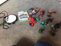 Xbox 360 skylanders with disk and portal