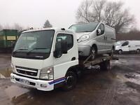 Mitsubishi Fuso Canter 3c15-39 XLWB Recovery Truck Low Mileage transit sprinter daily crafter movano