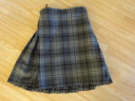Men's kilt - size 30/32 - black, grey, white