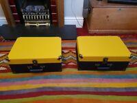 Crosley Keepsake USB Turntable / Record Player, Navy and Mustard