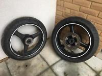 ZX6R Wheels tires rear sprocket and disc