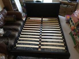 King size bed frame black