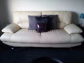 HarveyReid LEATHER SOFA + CHAIR perfect condition