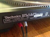 Technics Quartz D D Automatic Turntable SL-QD33 with more then 24 vinyl albums
