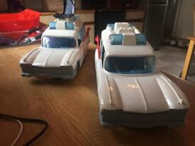 Ghostbusters ECTO 1 CARS X2 and 3 figures
