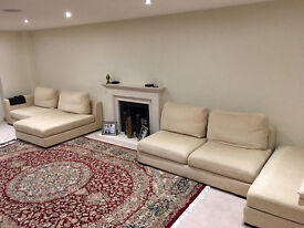 Modular Sofa (Cloth / Sand Colour) - Must clear this week due to new arrival.