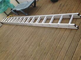 ABRU double extension ladders. 15 rung. House move forces sale, excellent condition.