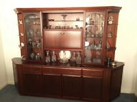 William Lawrence mahogany wall unit immaculate