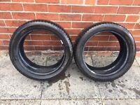 225 45 17 91W - 2x Michelin Primacy HP FR AO Tyres (4mm & 3mm)
