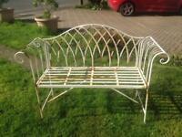 Lovely ornate garden bench