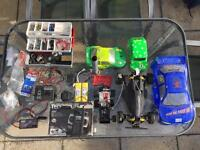 Various RC Cars and parts