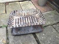 Cast Iron Log Basket Grate and Tray