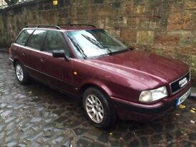 1994 Audi 80 B4 1z 1.9tdi Avant in dark metallic 'Rubin Red' - Classic