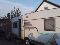 Hymer Caravan 545 fixed bed 4 Berth 2004 with motor mover and awning, very good condition £4650.