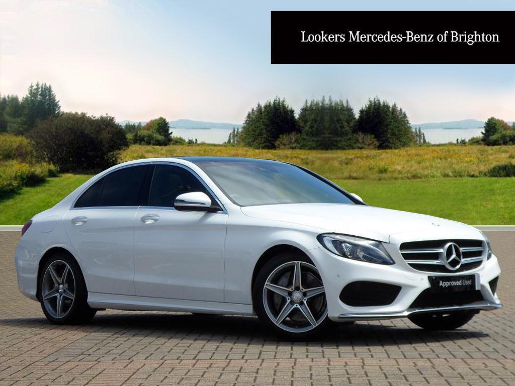 Mercedes benz c class c250 d amg line premium plus white for Mercedes benz c class white