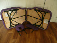 oakworks massage table complete with bag .....MINT