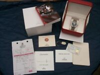 OMEGA Seamaster Americas cup Black Dial gold bezel Automatic watch 2424/9999