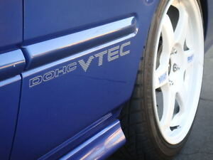 99-00 CIVIC SI DOHC VTEC DECAL. jdm em1 oem ex dx b16a2 ek9 sir 96 sohc sticker