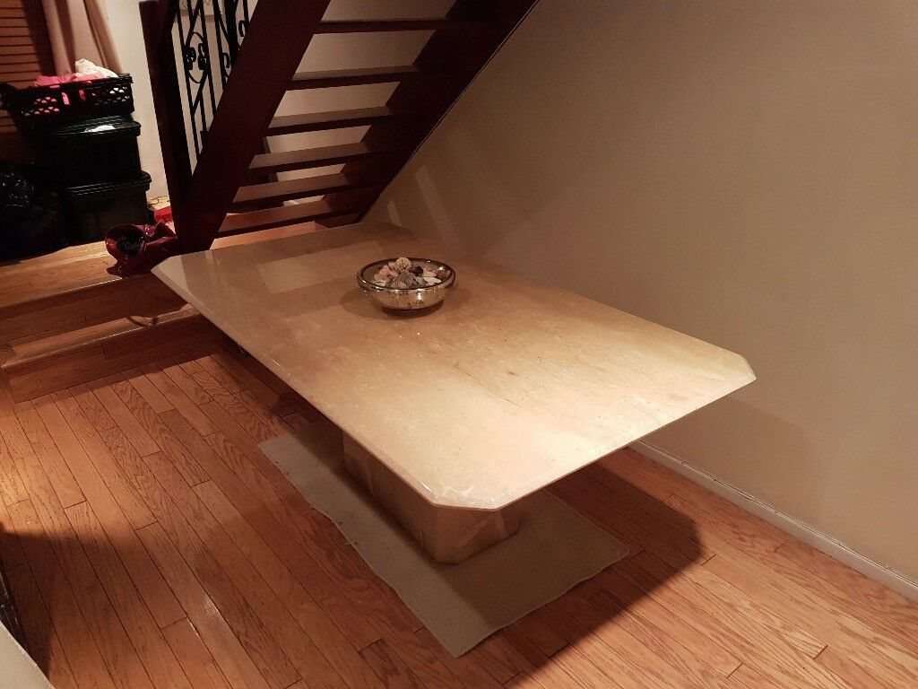 Solid Marble Table - Immaculate Condition - Bargain - Quick Sale as Moving