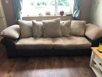 4 and 3seater sofa