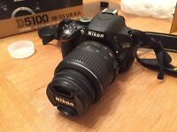 Nikon D5100 and Nikon 18-55mm VR Lens, Fully boxed with Lowepro Bag and 32GB Memory Card