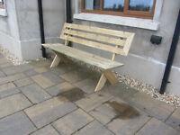 Timber bench, 4 seater chair garden furniture