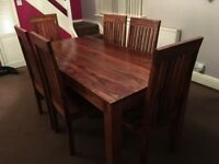 Oakwood dining table&6 chairs