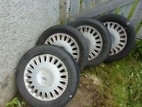 Citreon set of 4 alloy wheels