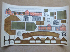 "Vintage Bilteezi ""VA"" 4mm Scale Models Series D Sheet No. 2 Farm Buildings OO Gauge Unmade"