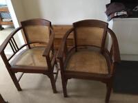 2 wooden ? Edwardian chairs