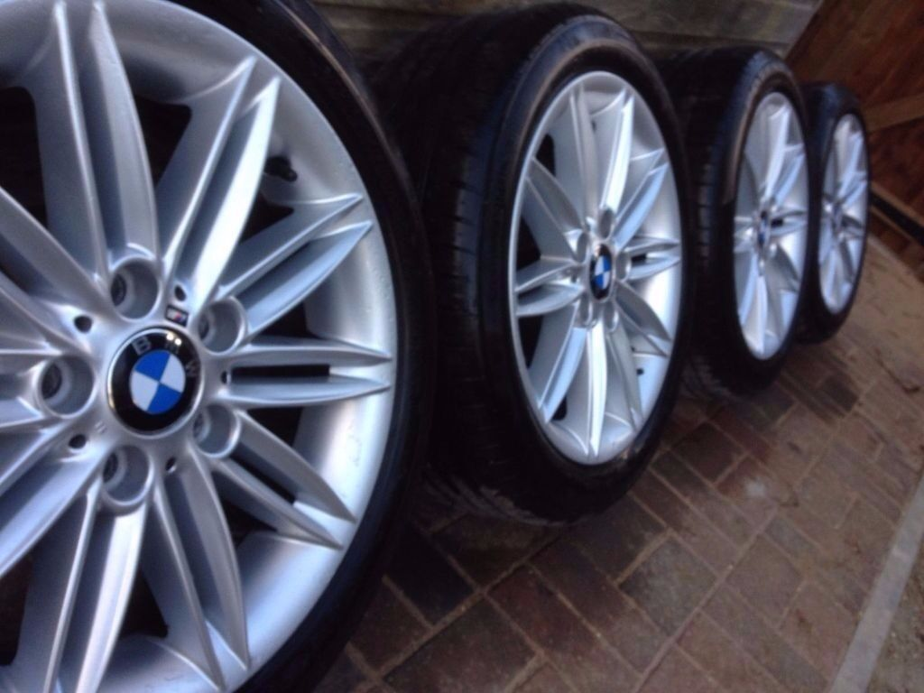 "bmw 1 series e81 e82 e87 18"" alloy wheels & tyres style 207"