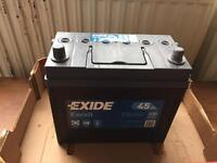 EXIDE CAR BATTERY. New ! Hardly used