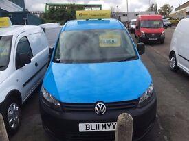 VW CADDY MAXI VAN 1.6TDI 102BHP 2011/11REG 3 MONTH WARRANTY FULLY LOADED £5999 NO VAT