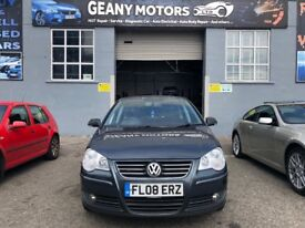 *3 MTH WARRANTY* 2008 DIESEL VW POLO SPORT 1.4 TDI, FSH, FULL MOT, NEW CLUTCH FITTED AND SERVICE,