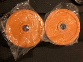 """2 x 12.5kg Olympic Weight Plates 25kg total. 2"""" diameter hole"""