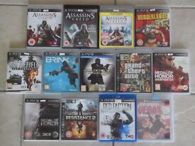 PS3 Games for Sale - £2 each