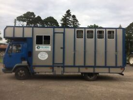 Horsebox for sale: Leyland Daf 45 lorry, 2000 reg, 7.5 ton
