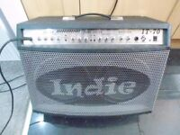 Indie IT-70 Tuberider Guitar Combo complete with original Indie IFS-4 foot switch