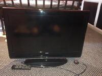 "32"" bush flat screen tv & Samsung 3D blu-ray player"