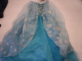 DISNEY Frozen Elsa Dress and Tiara Age 9 - 10 years