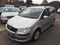 2008/58 VOLKSWAGEN TOURAN 1.9 TDI S 5 DOOR,7 SEATS SILVER,HIGH SPEC SUNROOF,CRUISE CONTROL,STUNNING